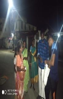 பழனி - கொரோனா நிவாரண பொருட்கள் வழங்குதல்