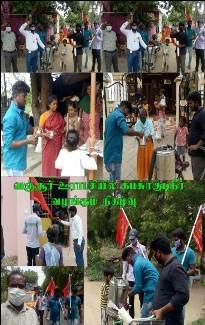 கபசுர குடிநீர் வழங்குதல் -பழனி