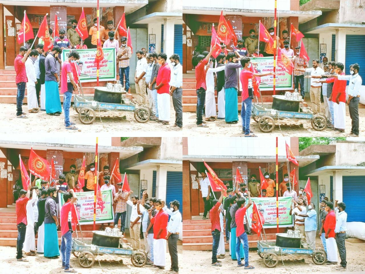 கொரோனோ நிவாரண பொருட்கள் வழங்குதல் - ஒட்டன்சத்திரம், பழனி