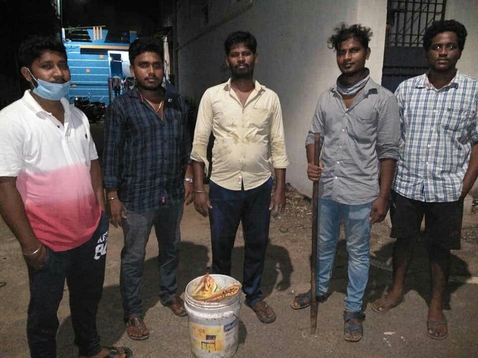 கபசுர குடிநீர் வழங்கும் நிகழ்வு - பெரம்பூர்
