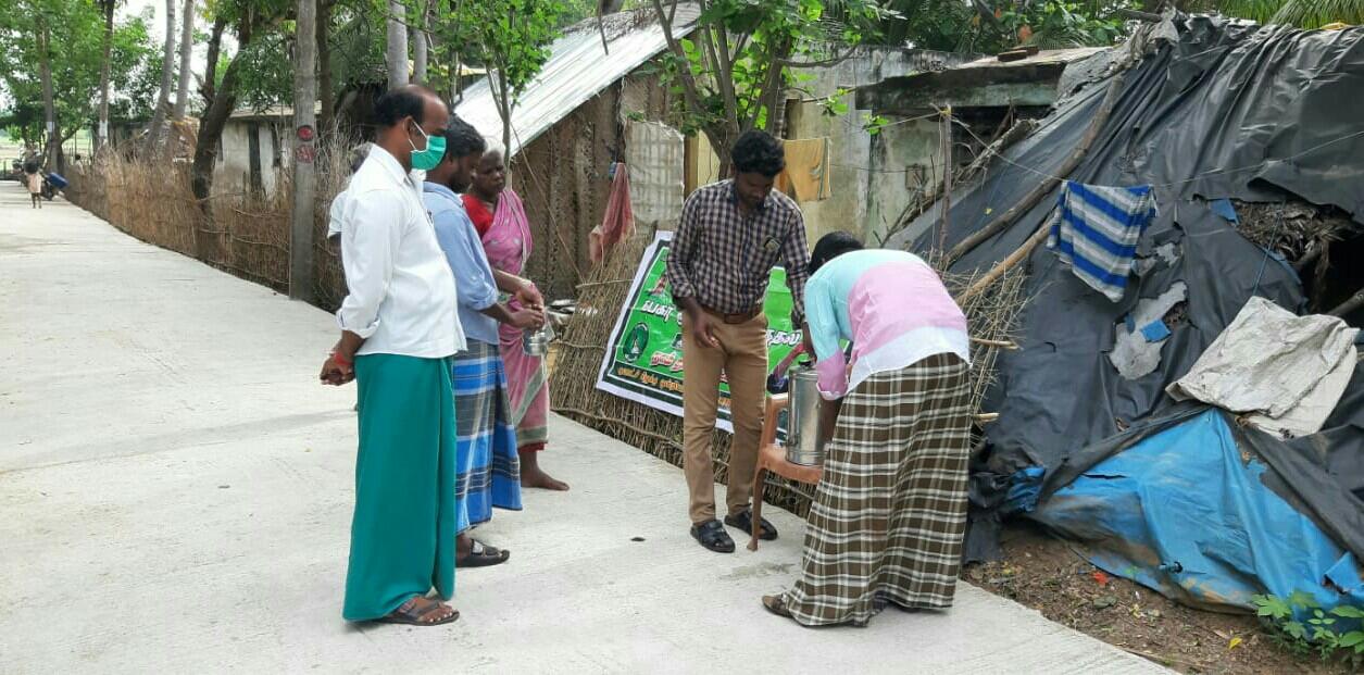 கபசுர குடிநீர் வழங்கும் நிகழ்வு - சிதம்பரம் தொகுதி