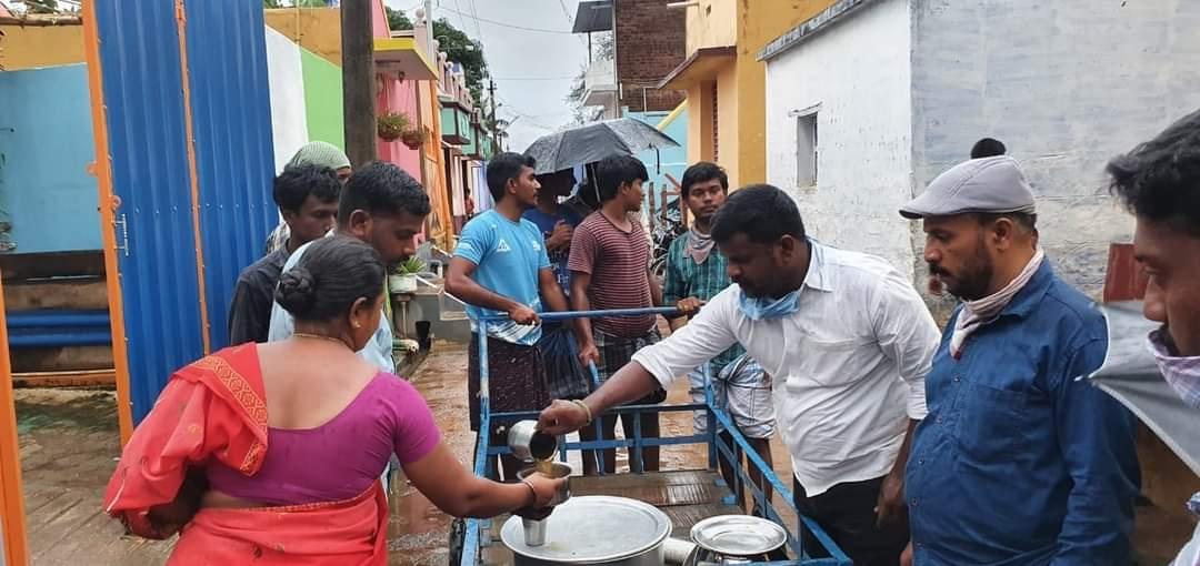 கபசூரகுடிநீர் வழங்கும் நிகழ்வு - கடையநல்லூர்