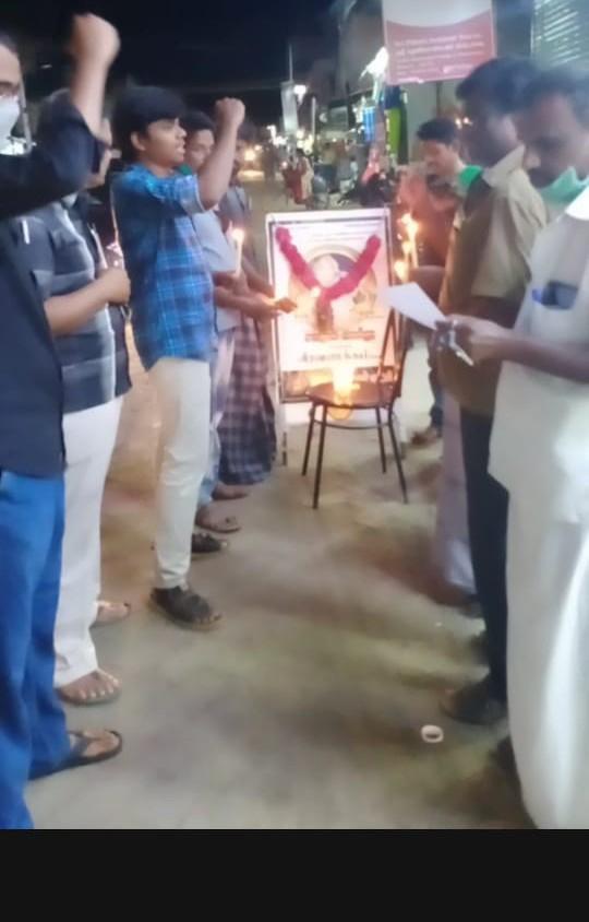 தமிழ்த்தேசிய போராளி சாகுல் அமீது அவர்களுக்கு கண்ணீர் வணக்கம்