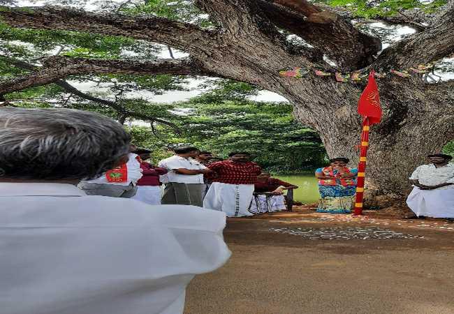திருவாரூர் - புலிக்கொடியேற்றும் நிகழ்வு