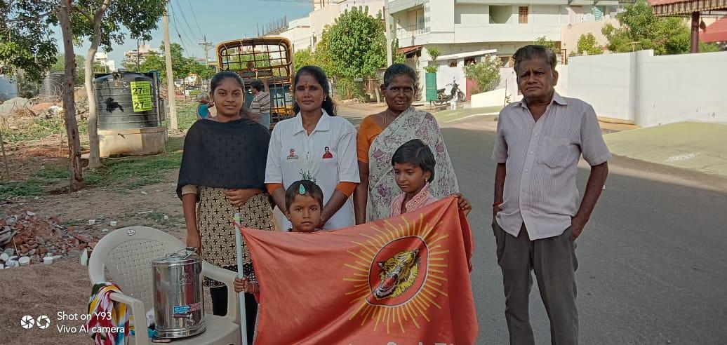 கபசுர குடிநீர் வழங்குதல் - கரூர்
