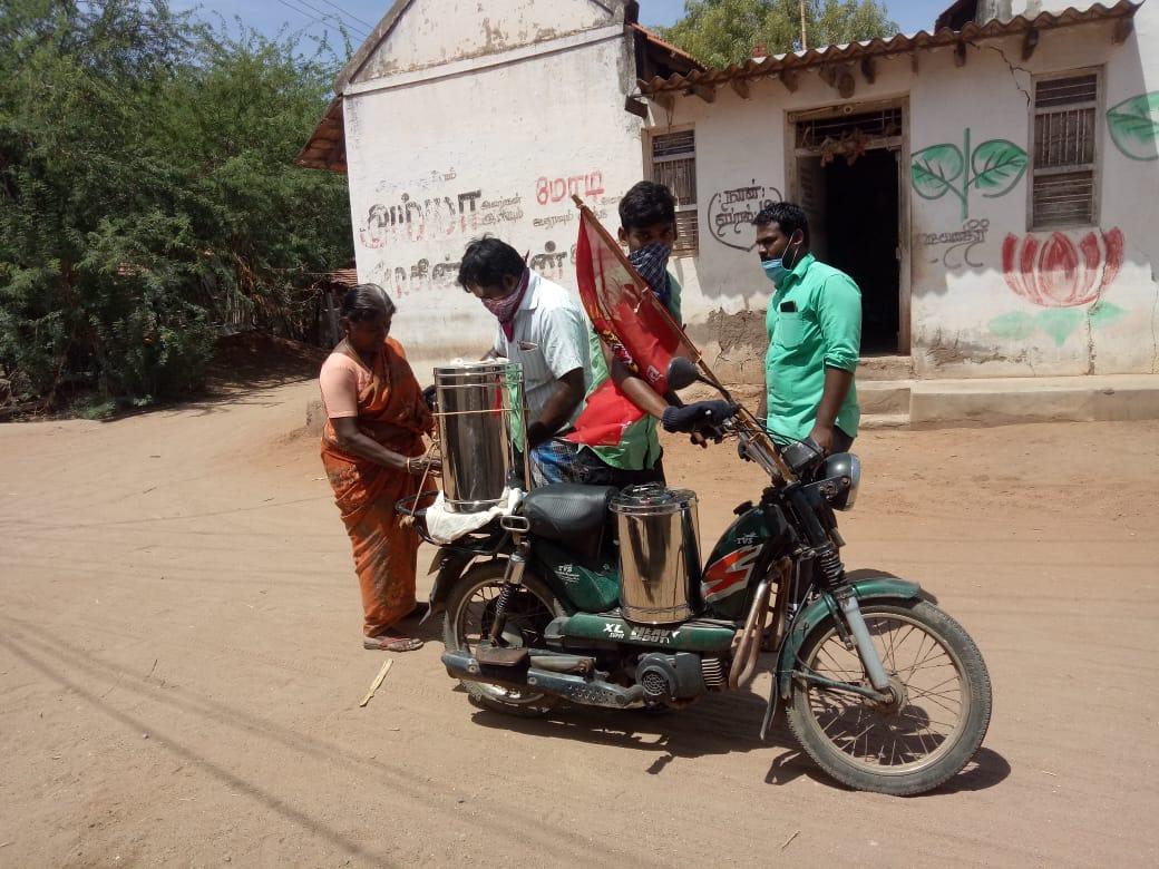 பொதுமக்களுக்கு கபசுரகுடிநீர் வழங்குதல் | விளாத்திகுளம் தொகுதி