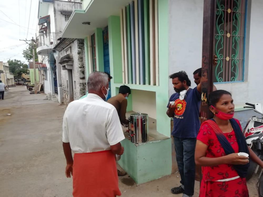 கபசுரகுடிநீர் கொடுக்கும் நிகழ்வு - சிவகாசி