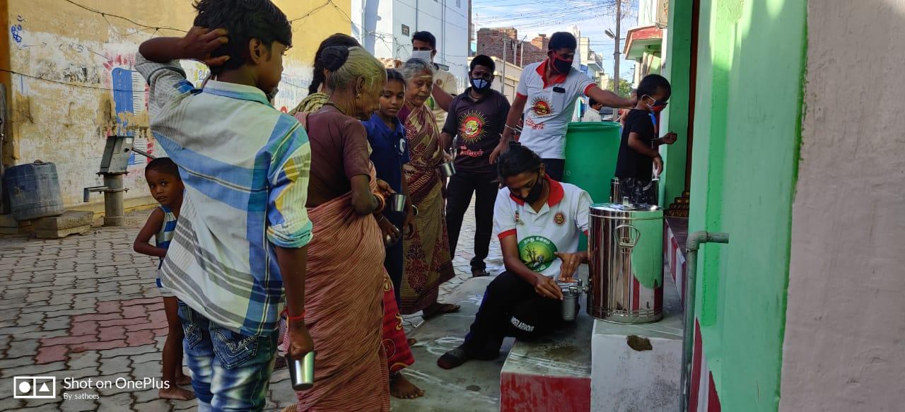 கபசுரக் குடிநீர் வழங்கும் நிகழ்வு - சிவகாசி